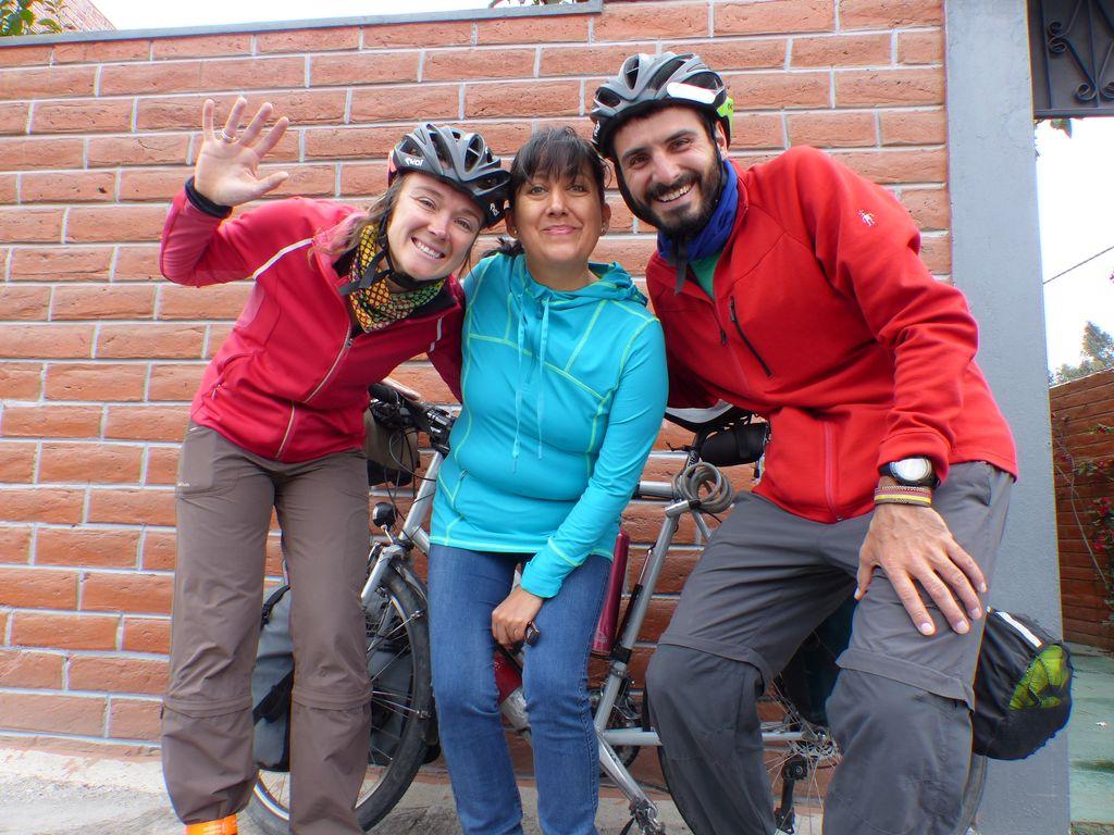 Avec Rosa notre Warmshower de Latacunga