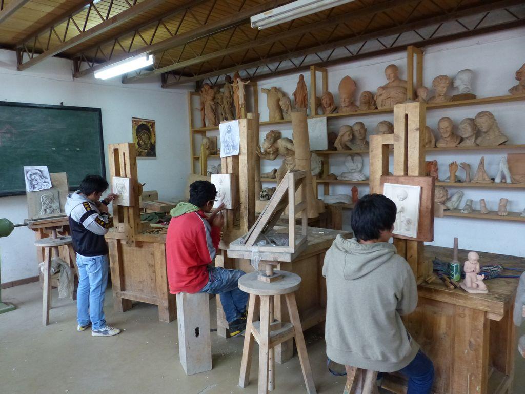 Atelier d'apprentissage d'ébéniste Don Bosco