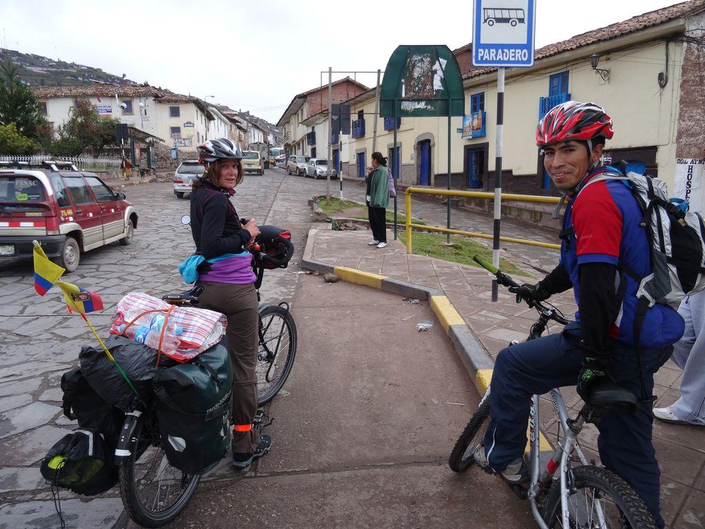 Merci à Percy pour nous avoir guidés à la sortie de Cusco