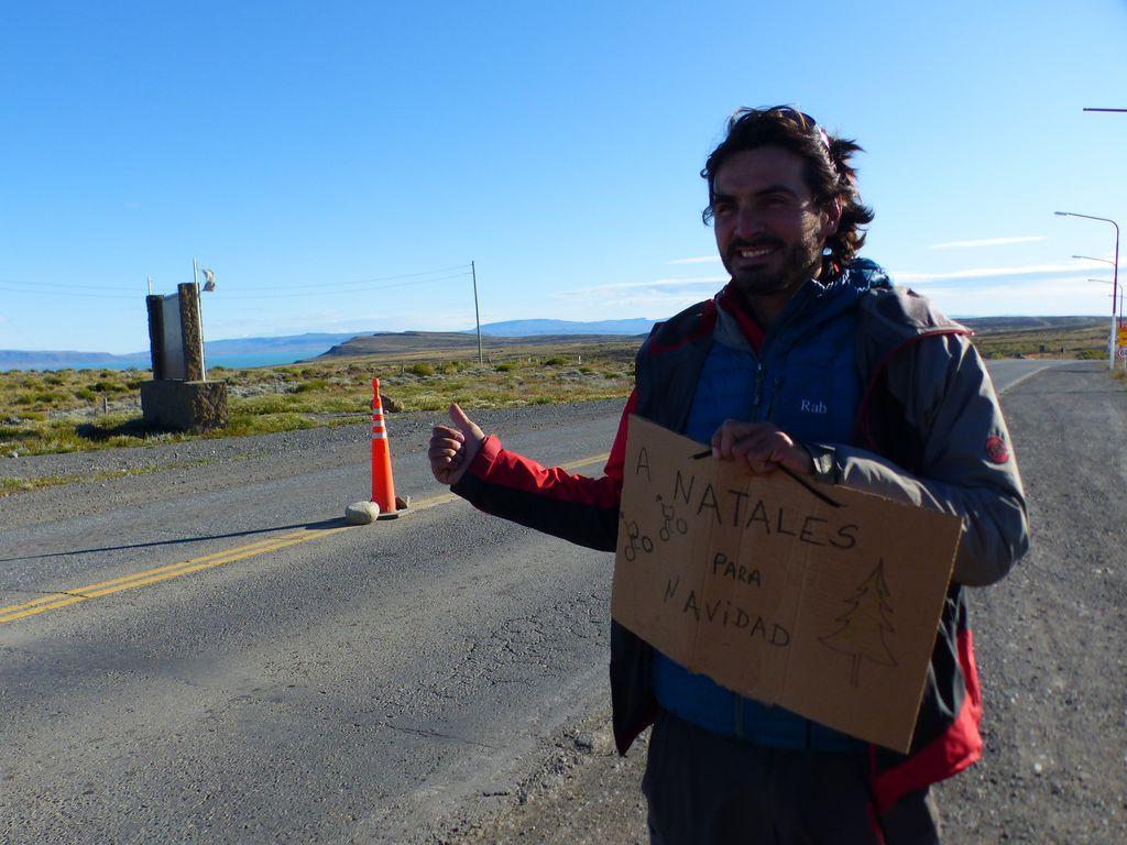 Et c'est parti pour le levage de pouce, direction Puerto Natales !
