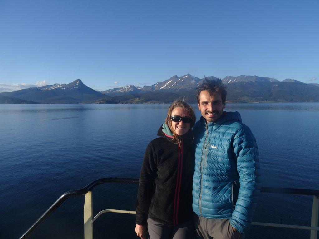 Navigation bien tranquille en dépassant Ushuaia