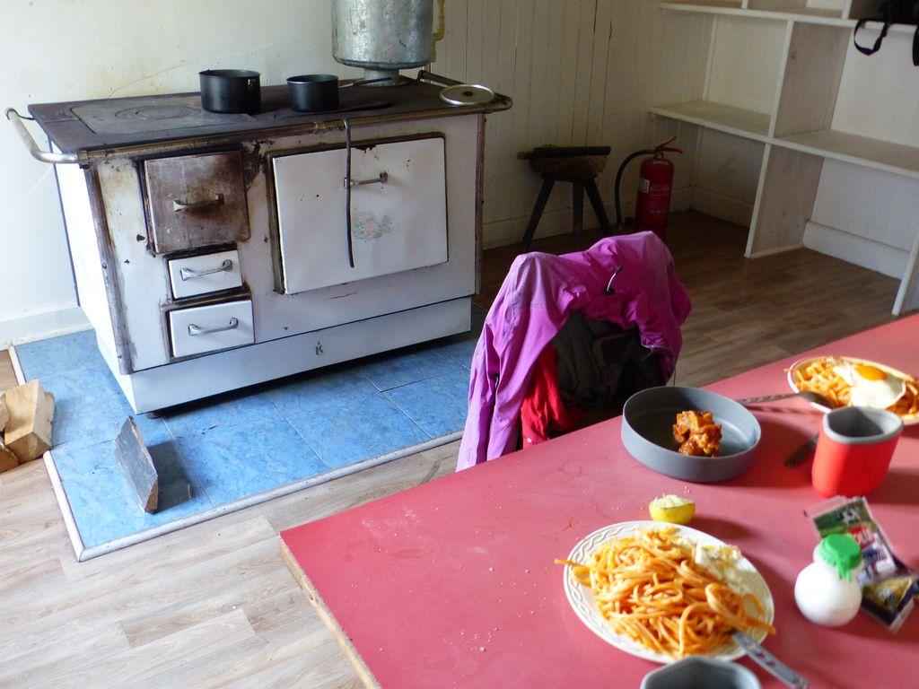 La cuisine de la maison des tondeurs (esquiladores) de moutons, autrement plus chaleureuse !