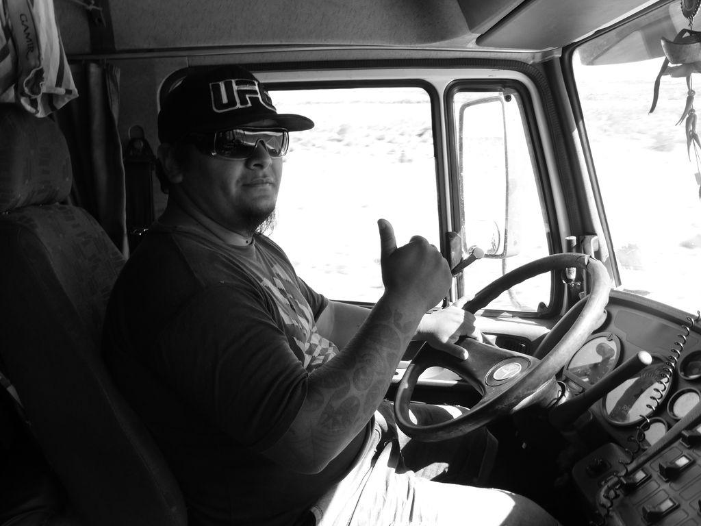 Mauro notre infortuné camionneur, mais toujours la pêche !