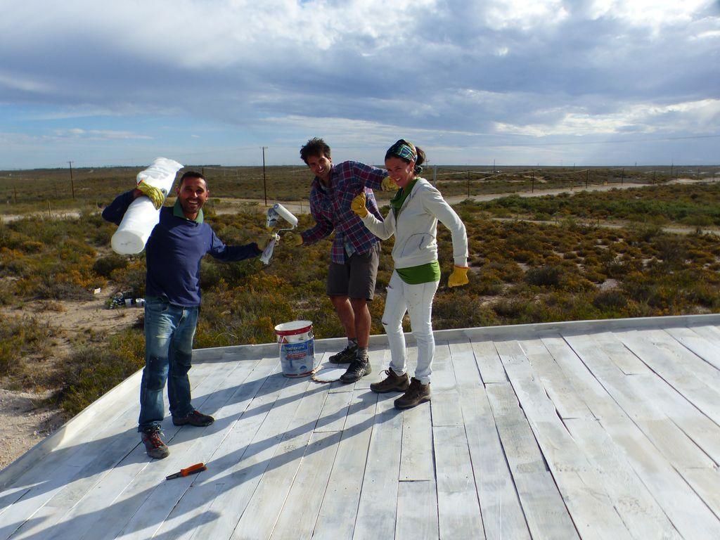 Activité manuelle sur le toit